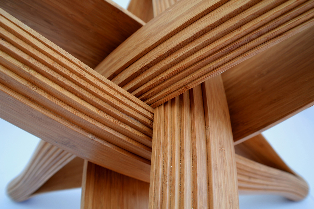 LOCK bamboo dinner table by PLANKTON