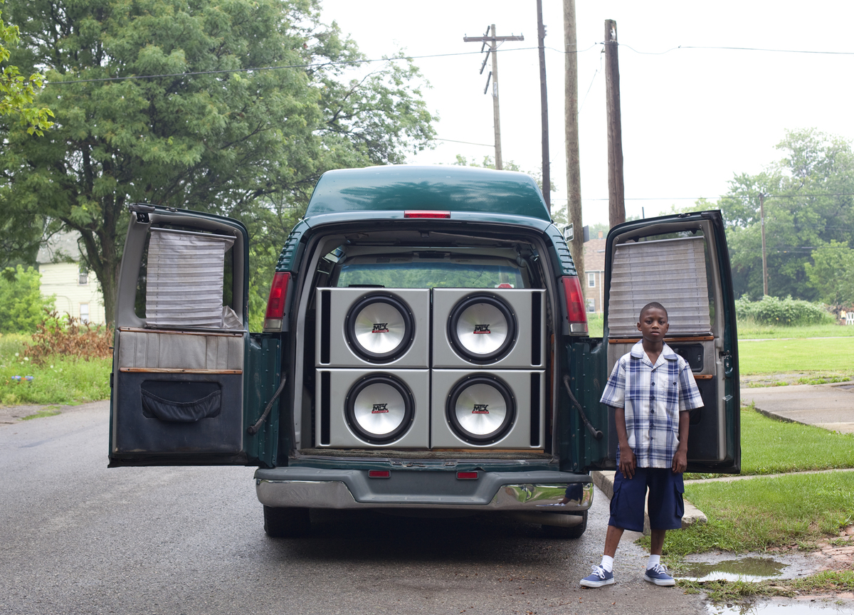 Ray Shawn and his uncle's van, (2011) by Corine Vermeulen, part of the My Detroit Postcard Project for the Architectural Imagination.