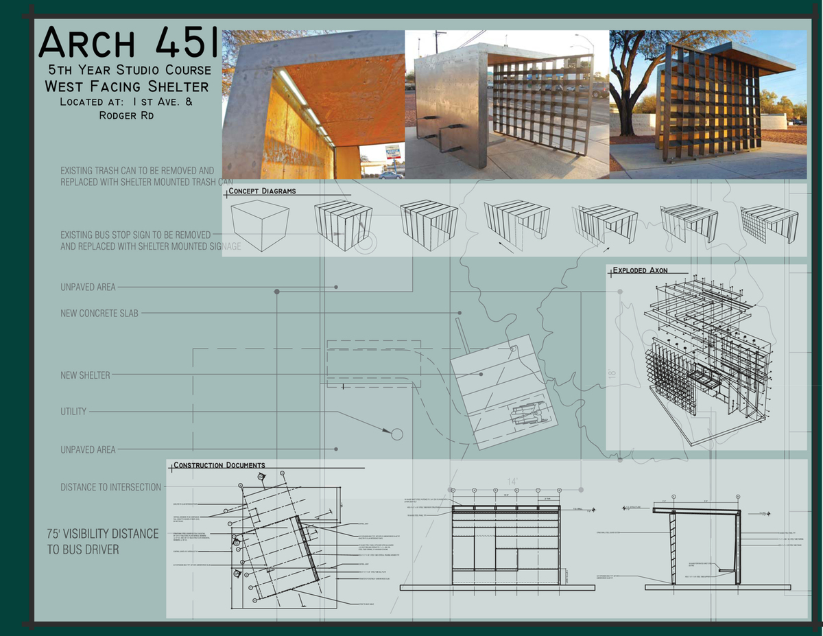 West Facing Shelter: Photos, Concept, and Construction Documents