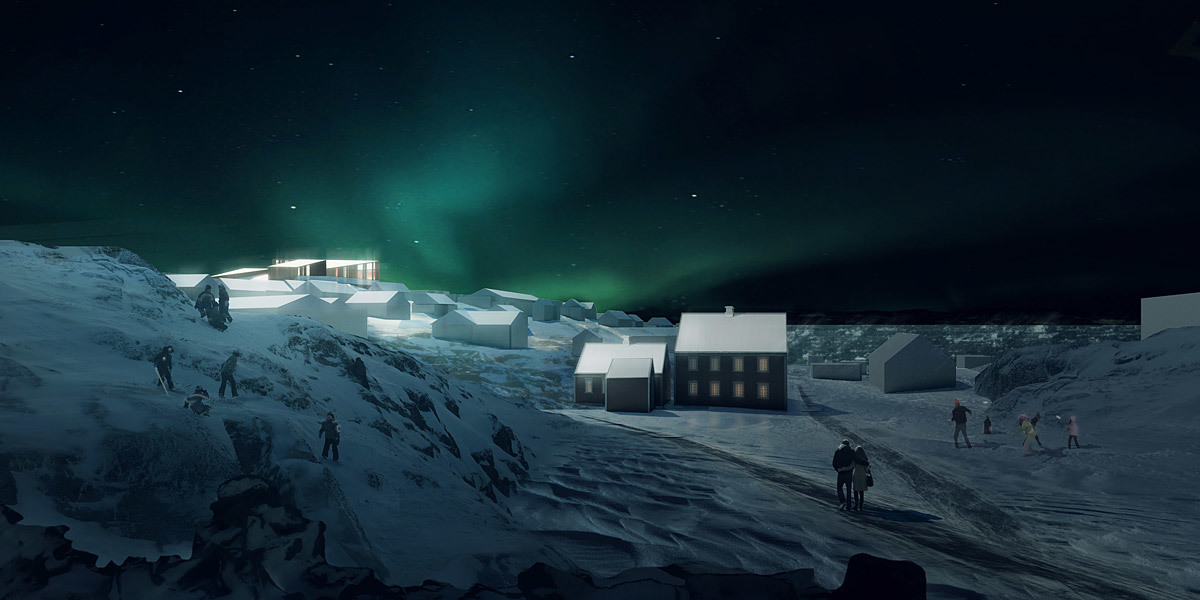 Rendering, Culture Center, winter (Image: David Garcia Studio and Henning Larsen Architects)