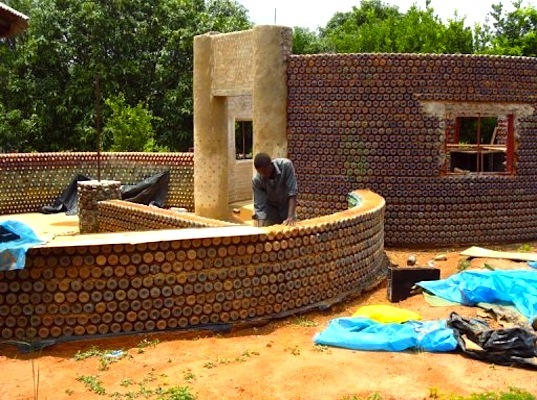 Africas First Plastic Bottle House in Nigeria