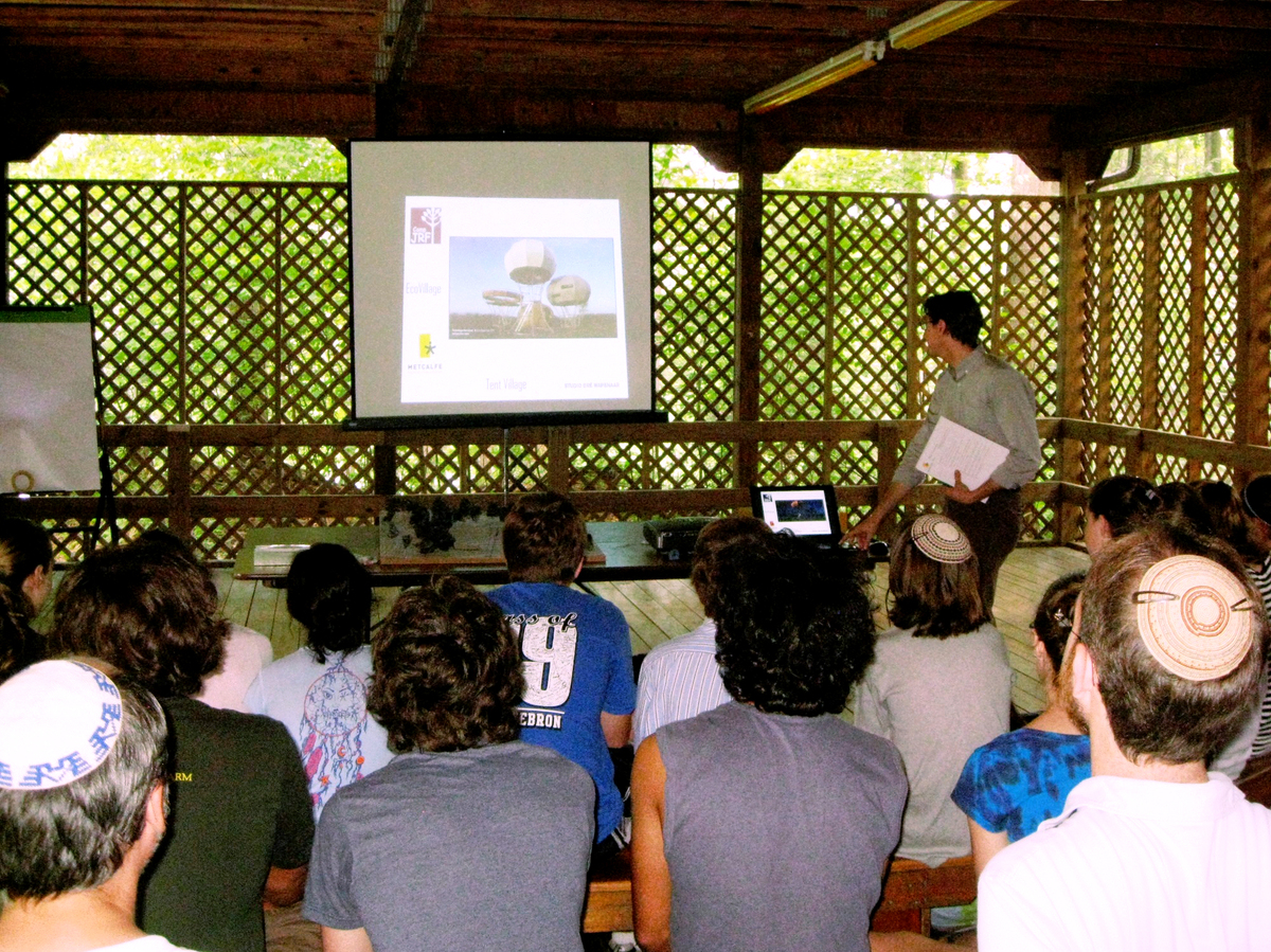 MA&D architect Justin Gebhard leads design charrette at Camp JRF