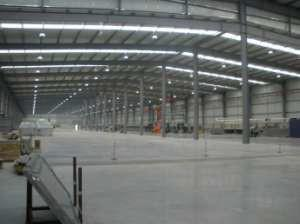General view inside the factory.