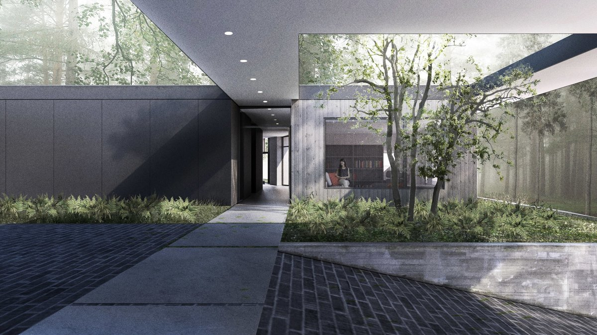 Forest House. Rendering by Wittman Estes.