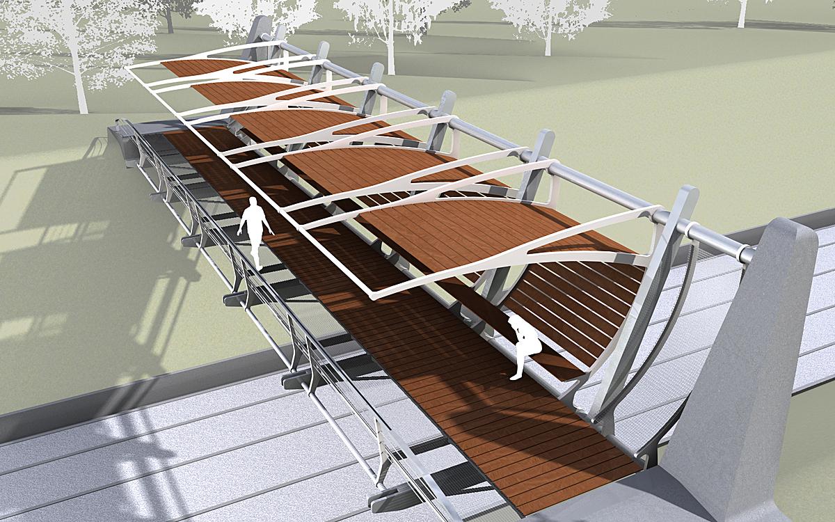 Pedestrian bridge in Athens   Konstantinos Goumenos   Archinect