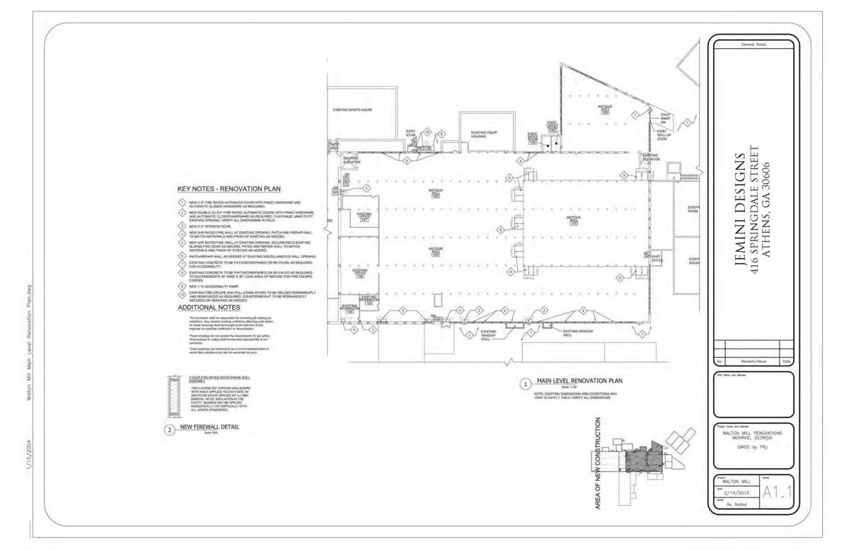 Main Level Renovation Plan