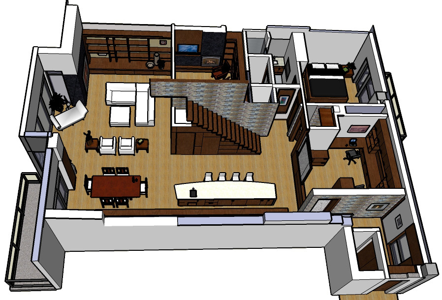 isometric of penthouse floor plan