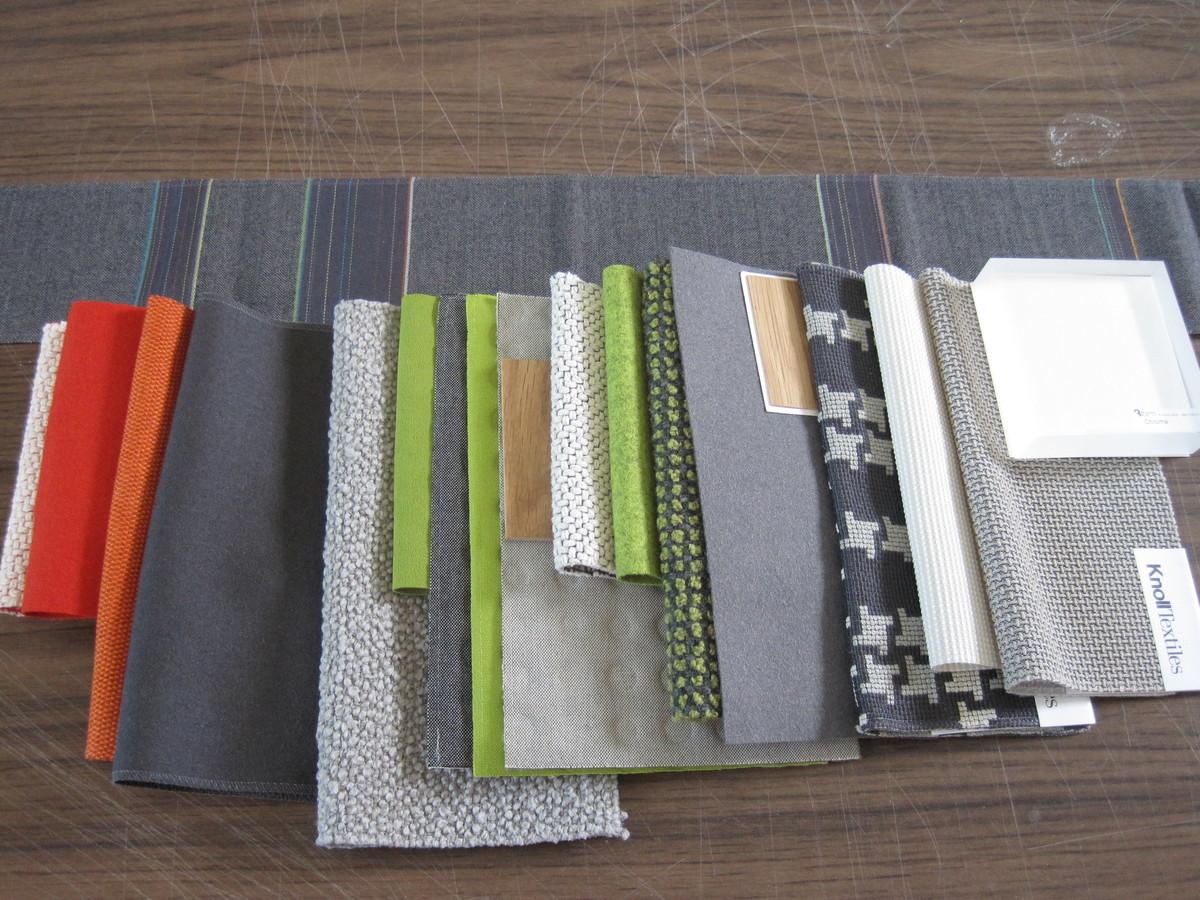 Final textile selections.