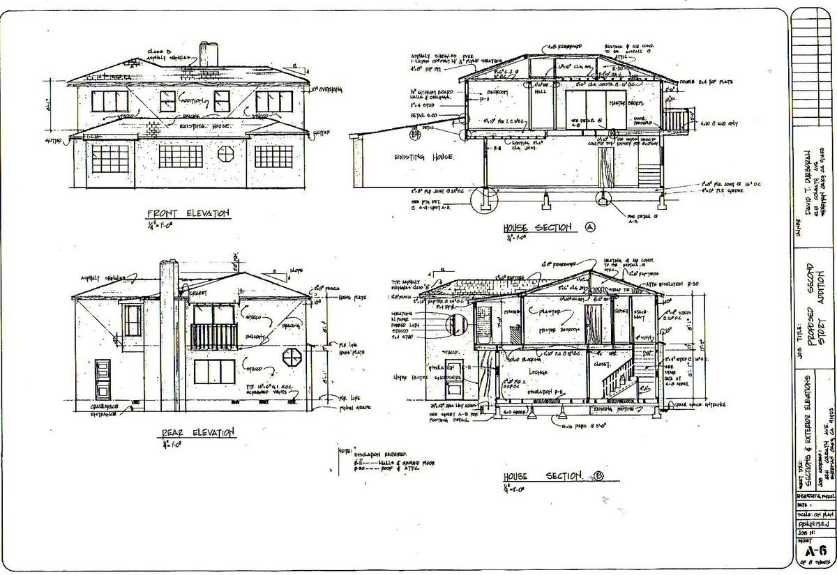 Building Section, Sherman Oaks, CA. Built