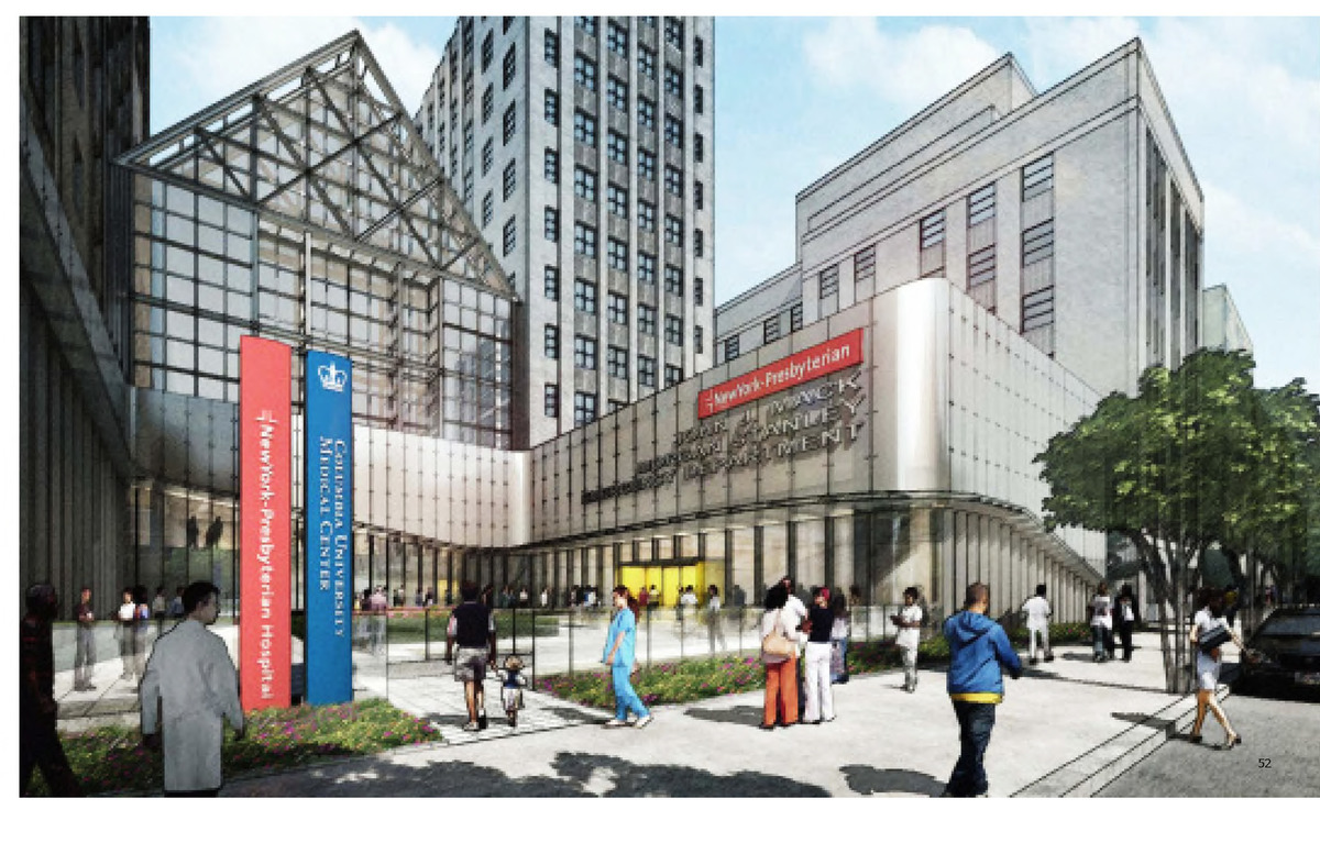Columbia New York Presbyterian Hospital - Emergency Department 48,000 sf emergency department addition and related renovations to the Columbia Univeristy / New York Presbyterian Hospital. New York, NY. Rdrury - Project team / Design Team at Cannon Design