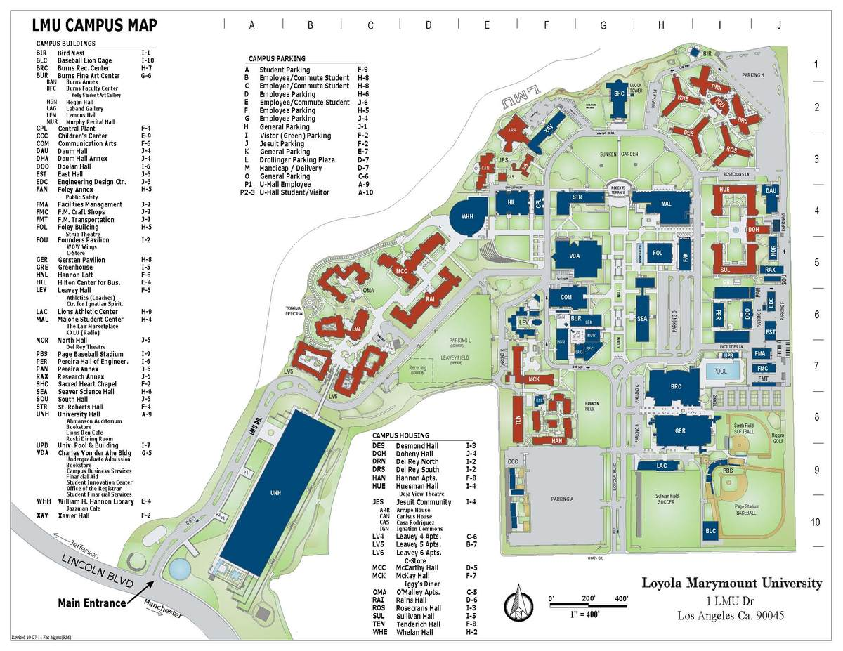LMU Campus Map Raymond Mongi