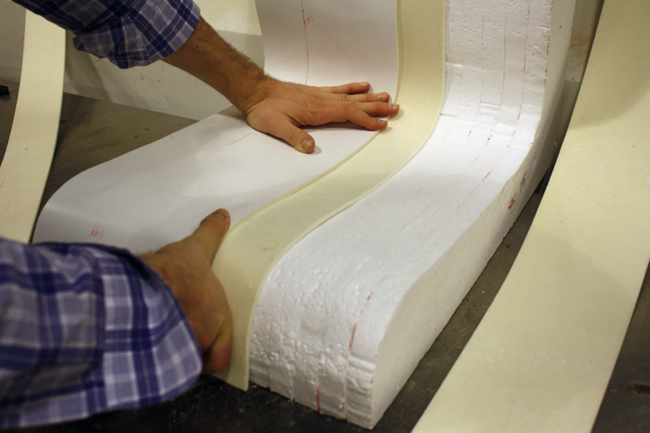6. Alexander Morley molding the foam core shell