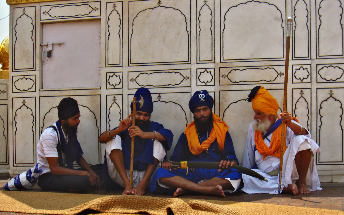 The ceremonial guards resting in the shade