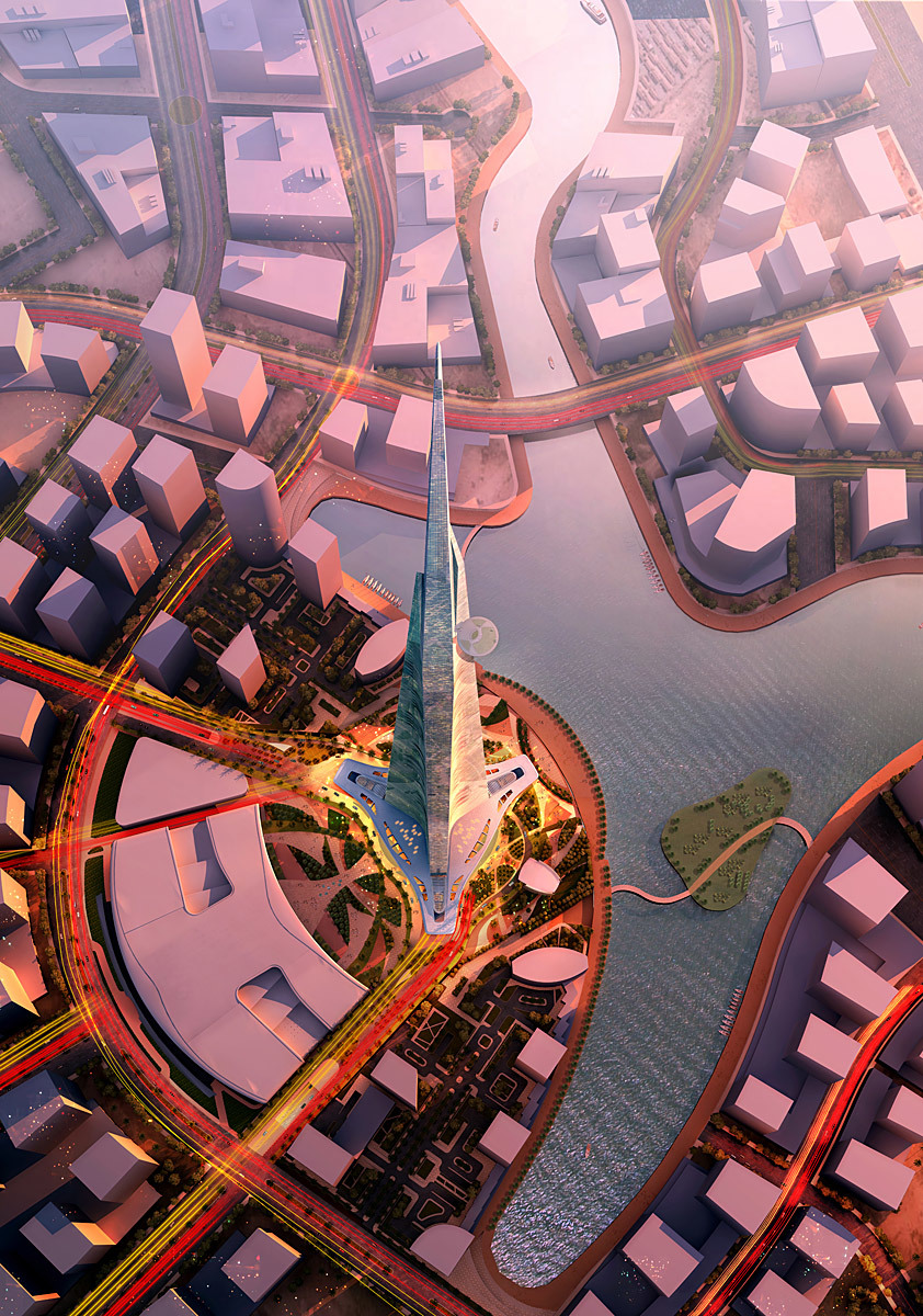 Aerial view (Image: Adrian Smith + Gordon Gill Architecture)