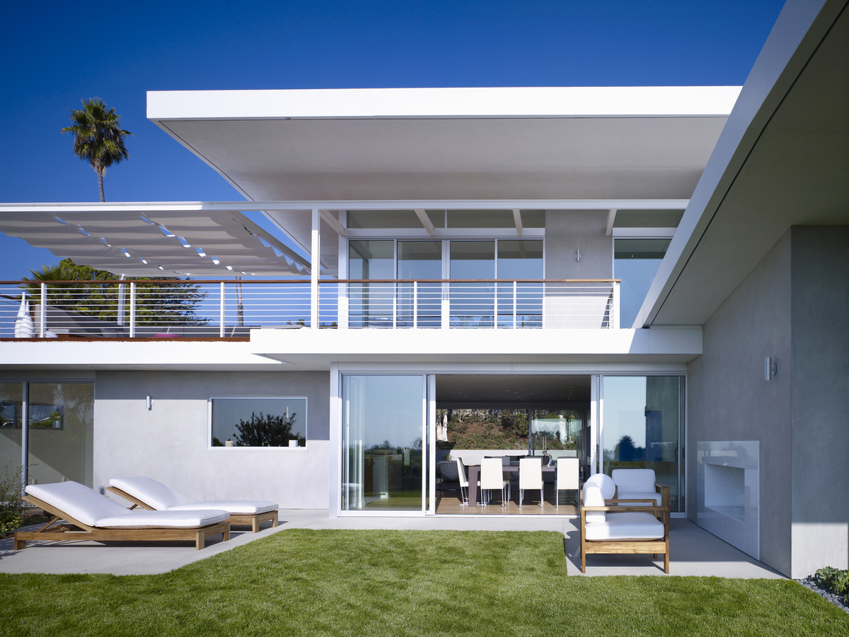 Overhangs frame the views