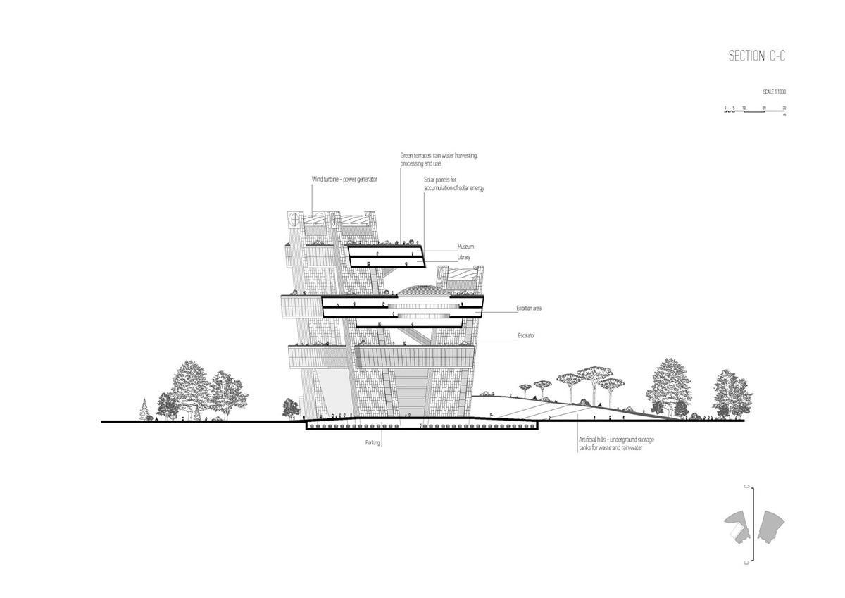 Section C-C (Image: Architecton)
