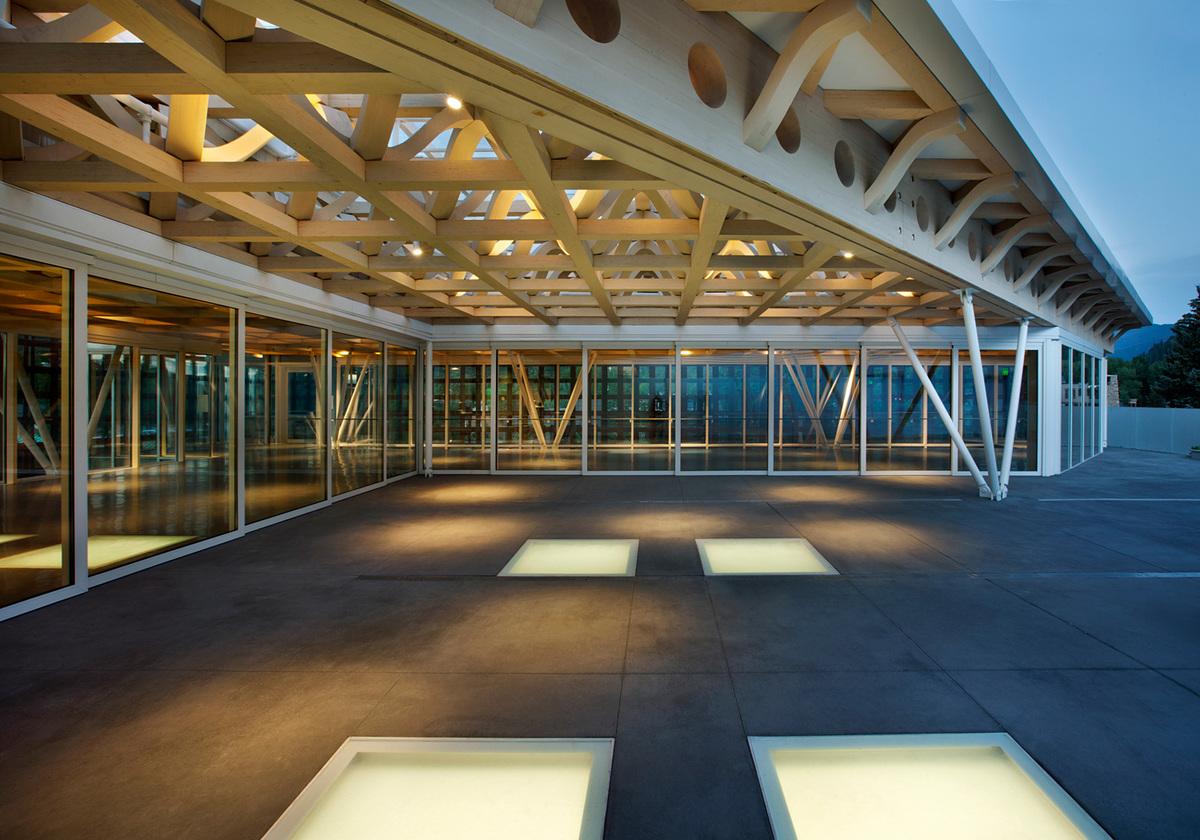Roof deck of the new Aspen Art Museum. Photo by Derek Skalko