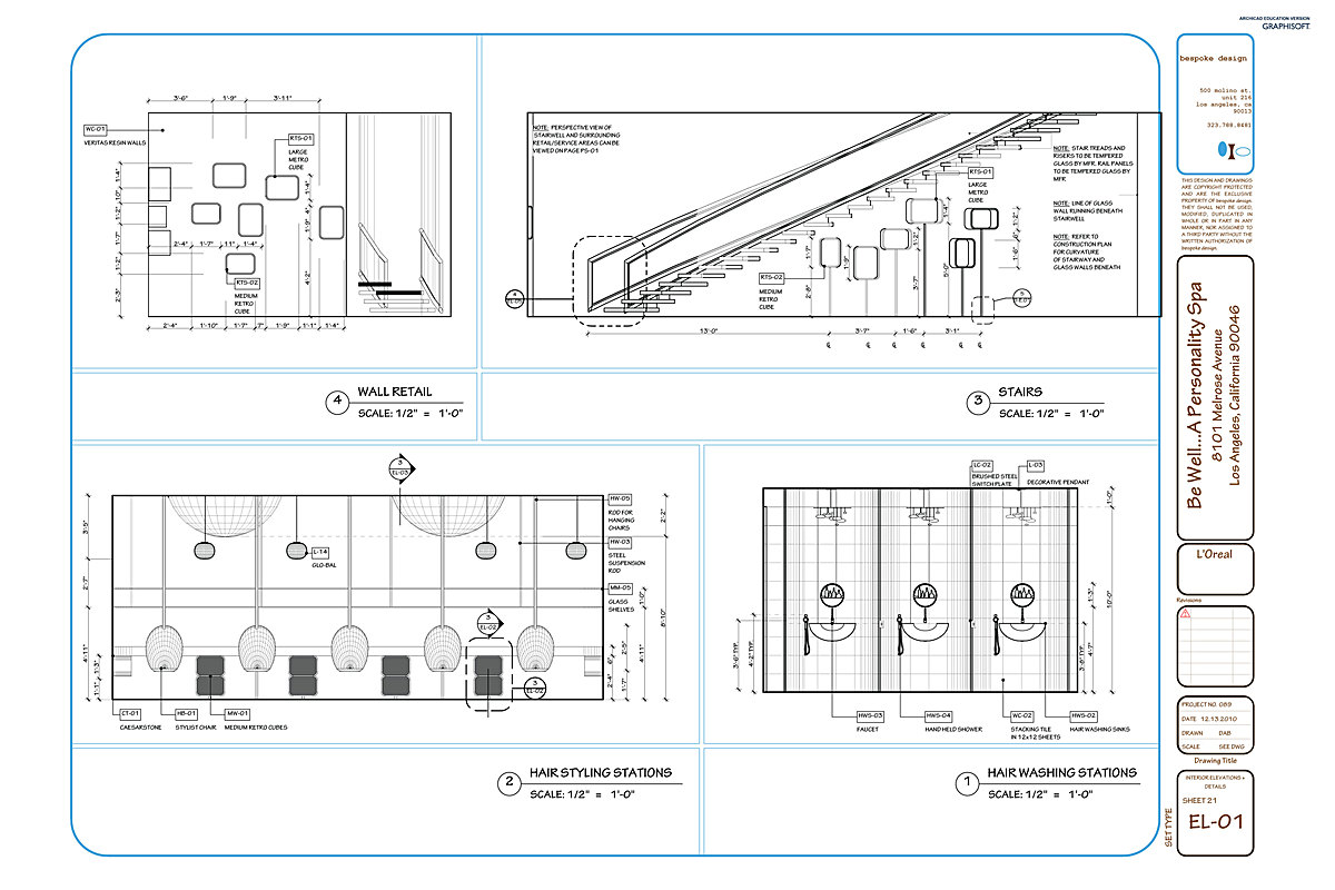 Be well construction documents darra bishop archinect for Interior elevation designs