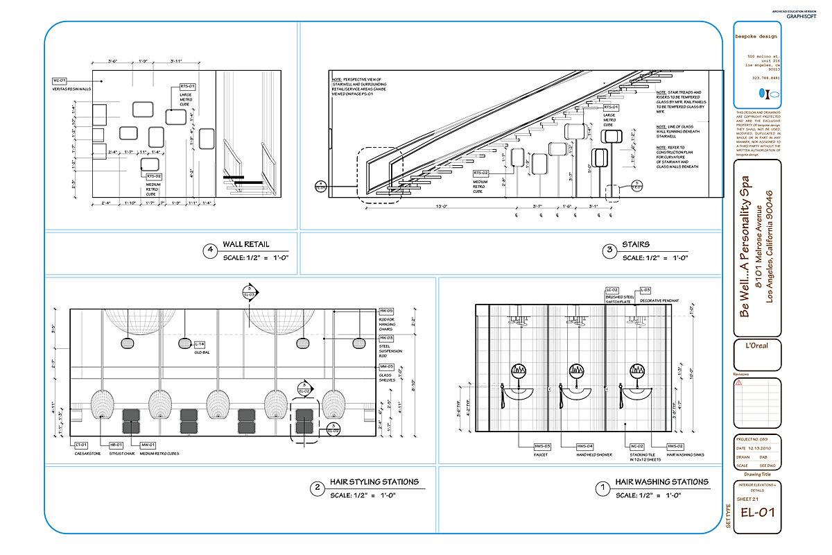 EL-01 Interior Elevations + Details