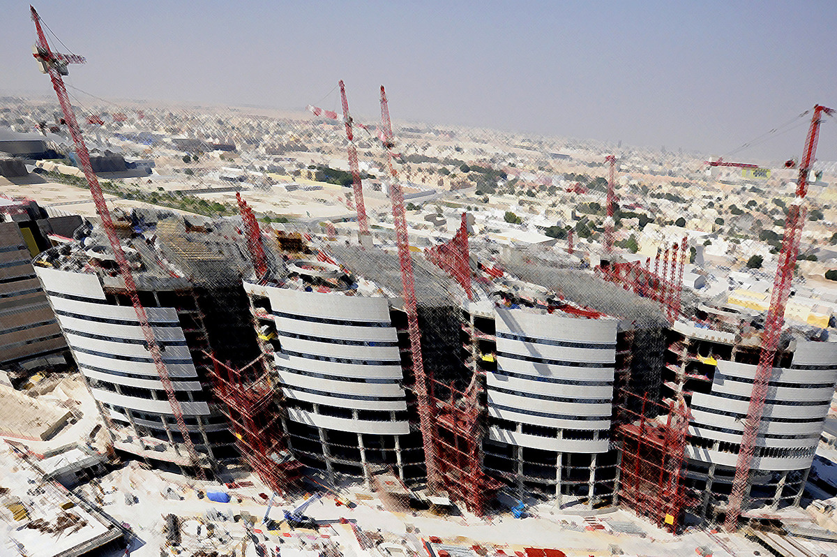 Sidra Medical and Research Centre: Construction View