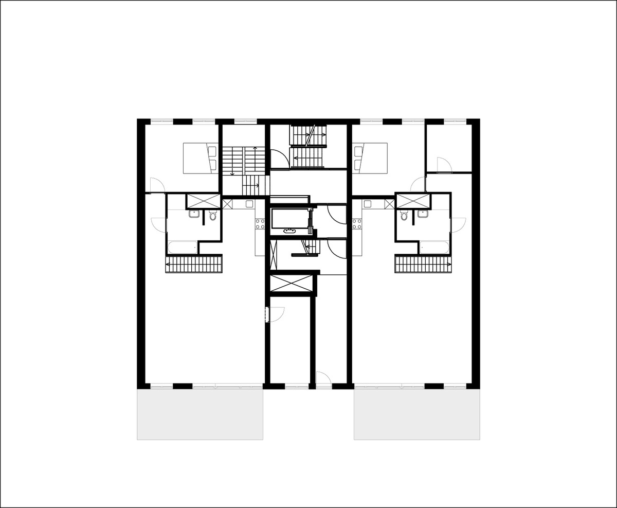 Floor plan of 1st floor of B05 Kuifje by NL Architects. Image: NL Architects.
