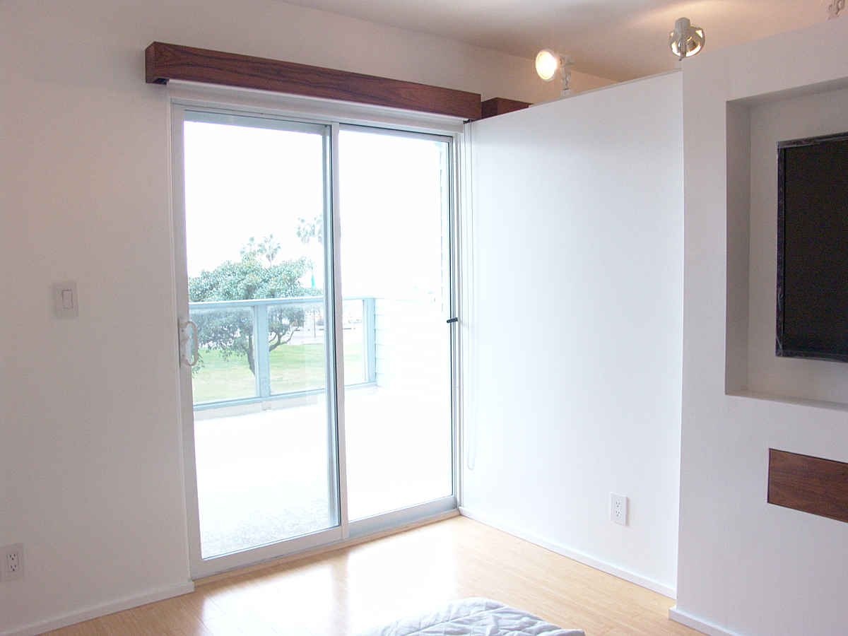 Exposed sliding door