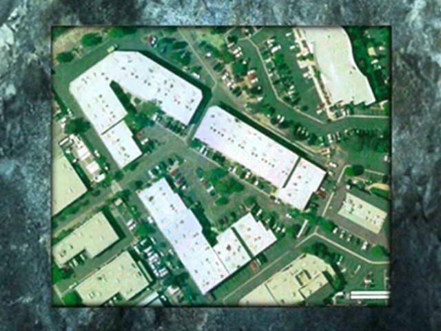 Ariel View Showing the building site layout (3 buildings)