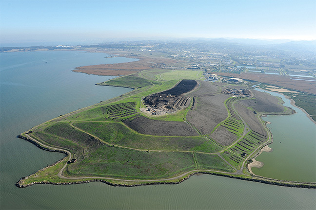 West Contra Costa County Landfill, © Center for Land Use Interpretation from Around the Bay: Man-Made Sites of Interest in the San Francisco Bay Region (Blast Books).