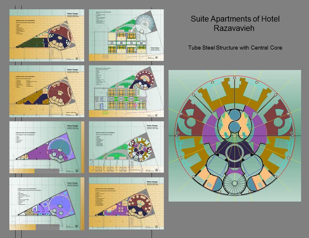 Suite Apartments of hotel razavieh Plans