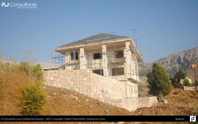 Baskinta villa fj consultants archinect - Libanese villa ...