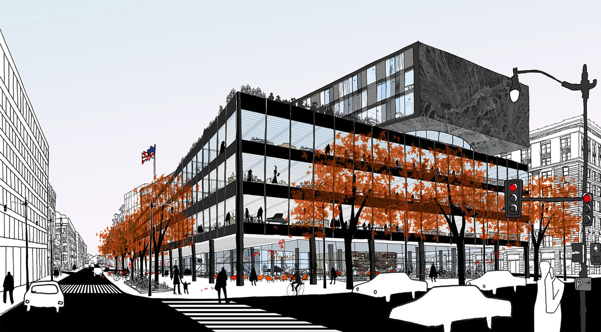 Winning MLK Library proposal by Mecanoo and Martinez + Johnson