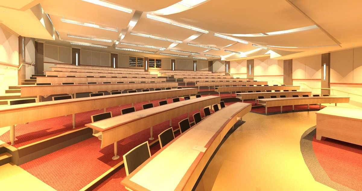 Lecture Hall Rendering