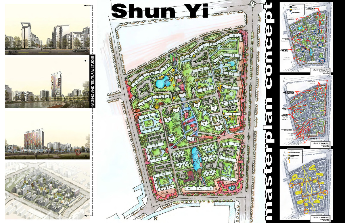 Mixed use development masterplan, Beijing