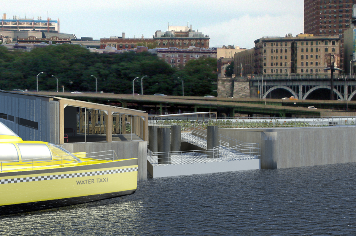 Harlem Piers Farm proposal water taxi station.