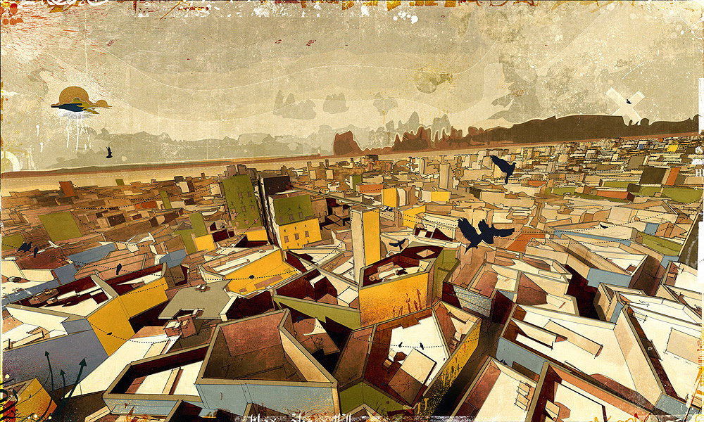The Central-City Settlement, digital media on paper, [2008] 60x40