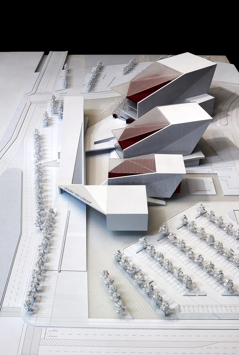 Aerial view of the proposed Sejong Art Center (Image: H Architecture & Haeahn Architecture)