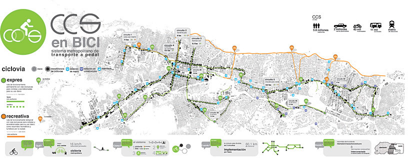 Winning Entry Of Bike Path Design Contest In Caracas