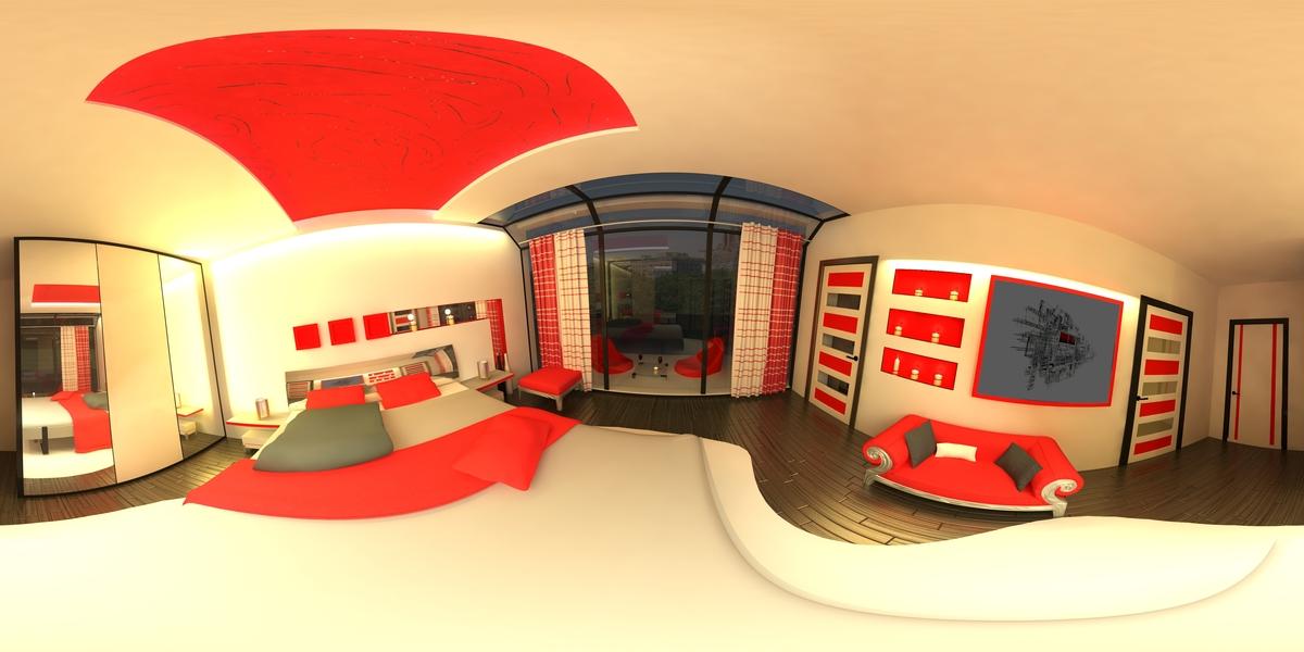Modern Bedroom 360 design