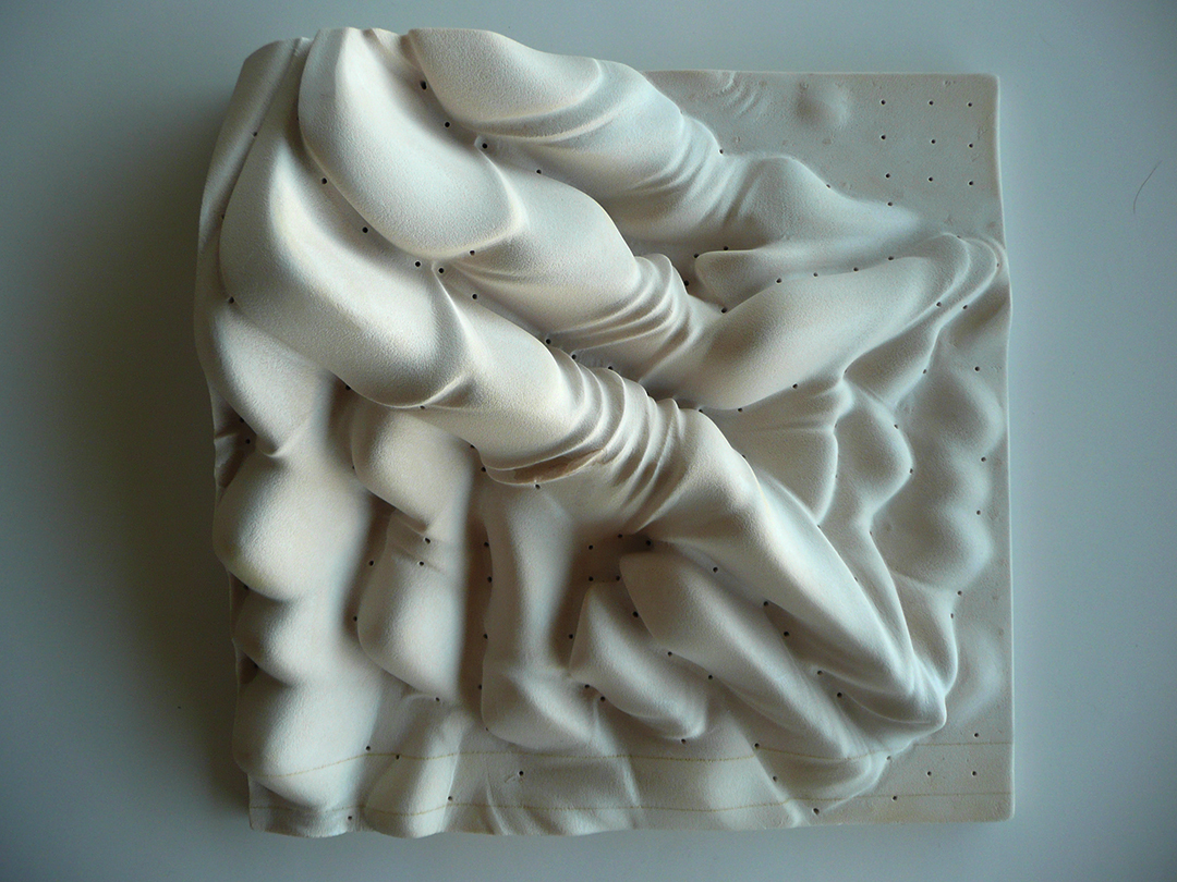 Milled model, high-density foam