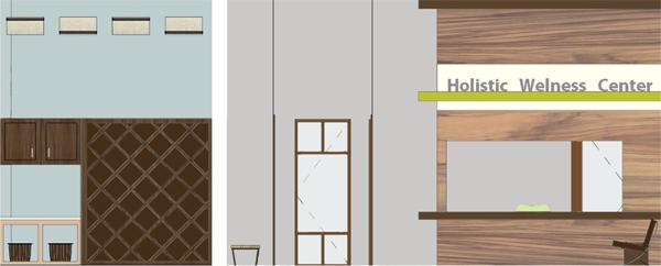 Waiting Room Elevation : Healthcare design athens holistic wellness center