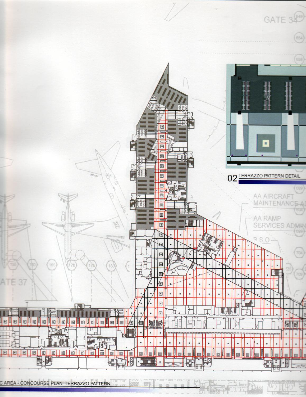 Proposed terrazzo patterning plan