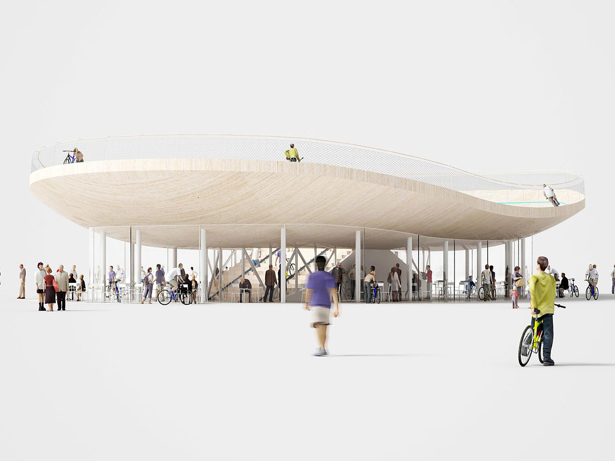 Bike Pavilion in Hainan Province, China by NL Architects (Image: NL Architects)