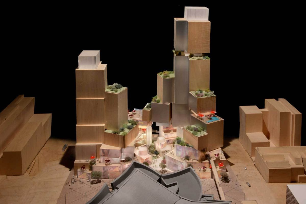 Model of Frank Gehry's