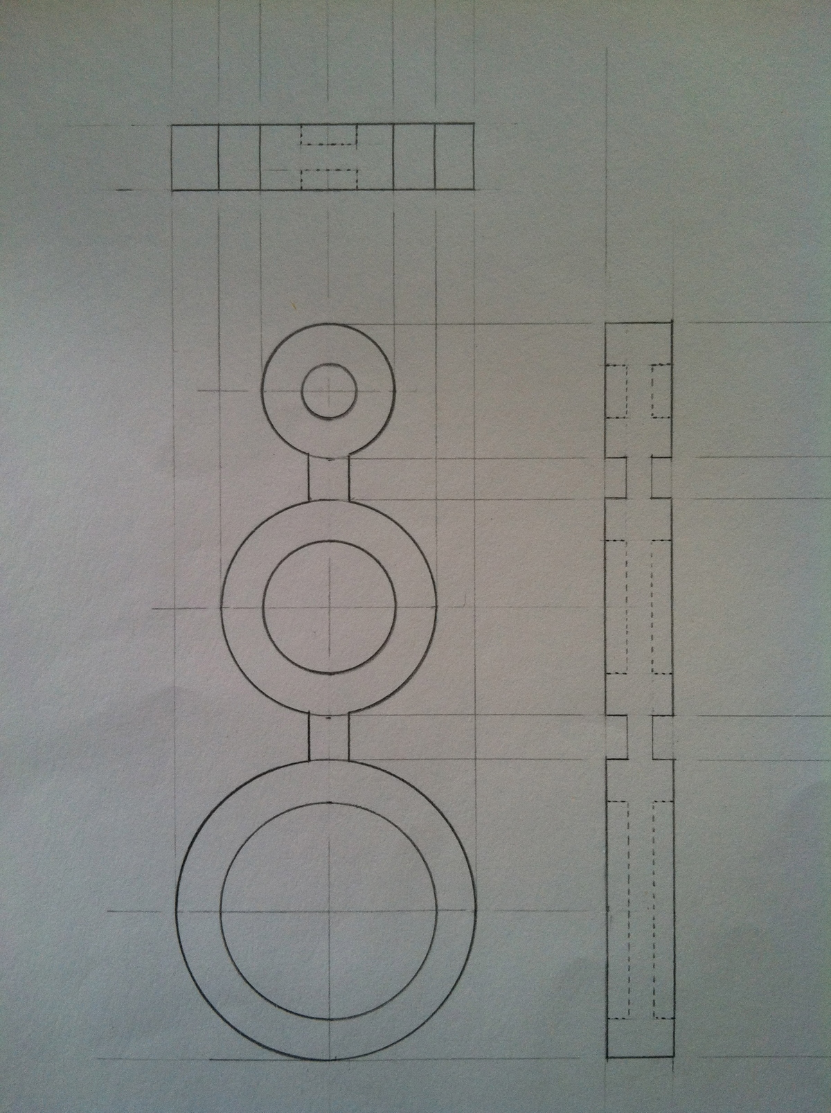 initial drafting design of the multifunction puzzle piece