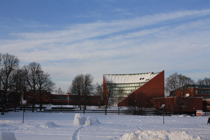 Aalto University, and another rare blue sky