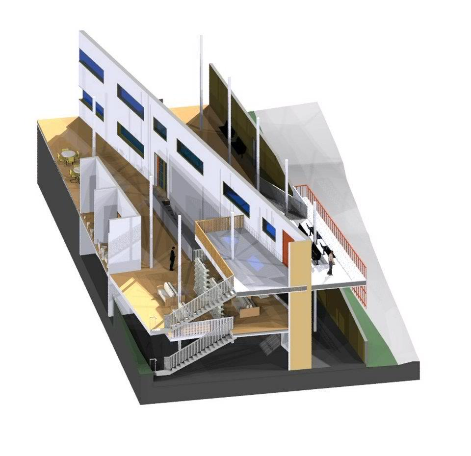 Sectional perspective rendering A