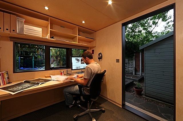 Contemporary garden office archinect for Modern garden studio