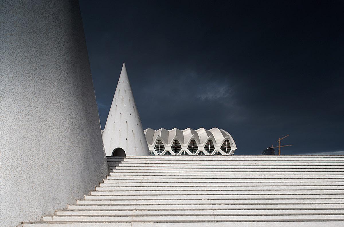 City of arts and science by Santiago Calatrava, Valencia, Spain.