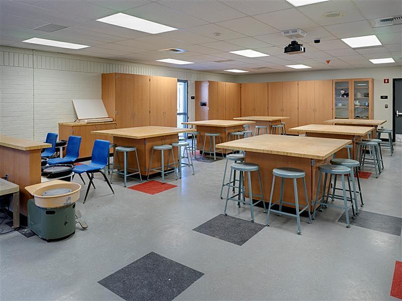 Modernized Ceramics Classroom