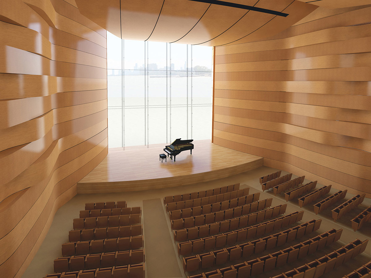 Recital hall (Image: Goettsch Partners)